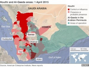 map yemen houthi